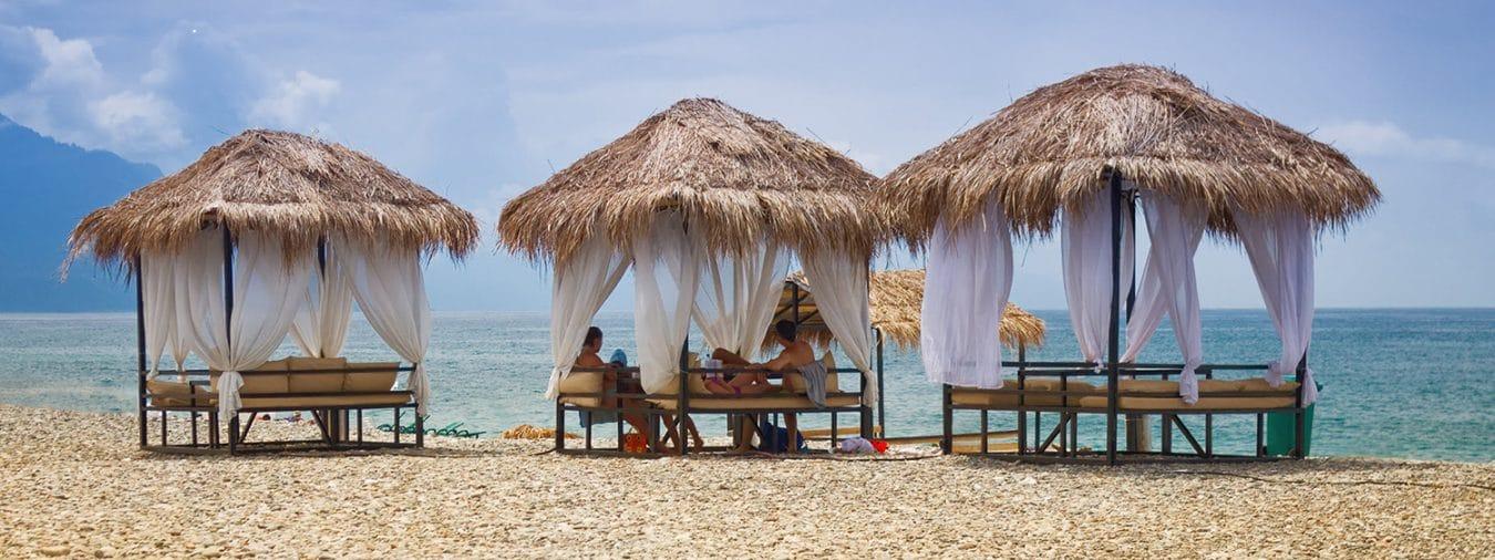 Huts On Beach